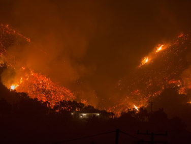 The biggest of the SoCal fires has reached Santa Barbara, and it could keep spreading
