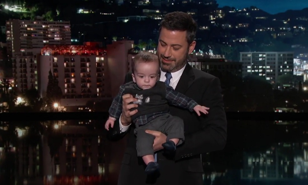 Jimmy Kimmel brought his baby son to last night's show after a second heart surgery