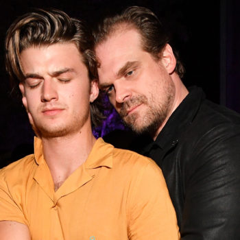 "Breaking news: David Harbour and Joe Keery are rooming together for ""Stranger Things"" Season 3, and to be a fly on that wall"