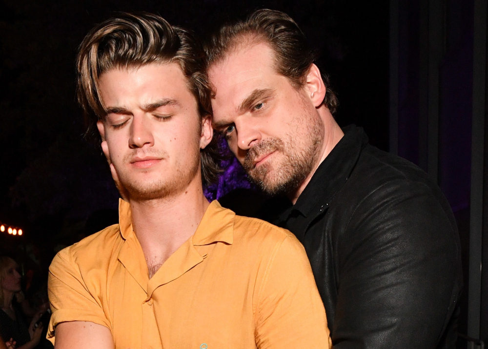 Joe Keery is threatening to shave his head if David Harbour wins a Golden Globe