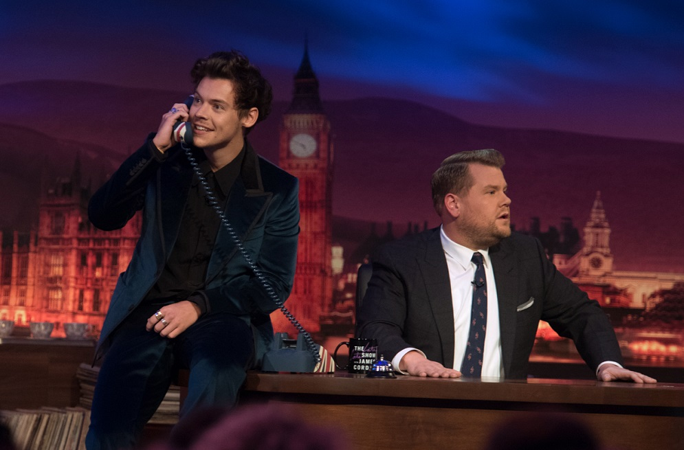 James Corden's wife went into labor, and Harry Styles took over his show with two hours' notice