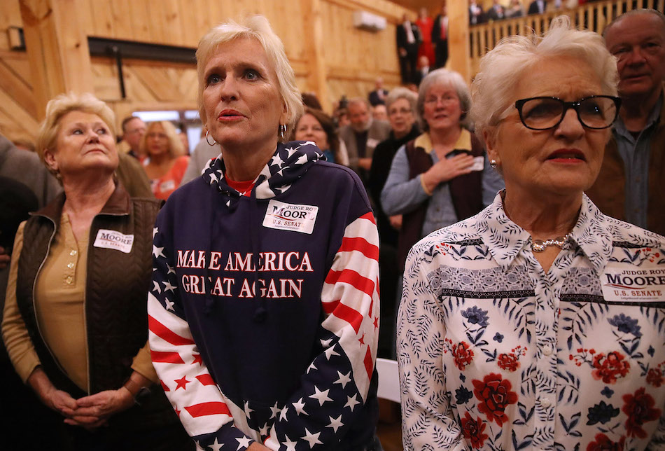 How many white women voted for Roy Moore? The percentage highlights an alarming trend