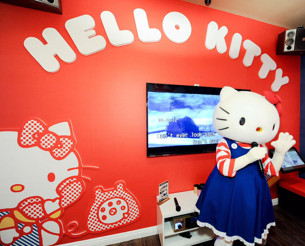 There's a Sanrio-themed karaoke bar, because our love for Hello Kitty knows no bounds