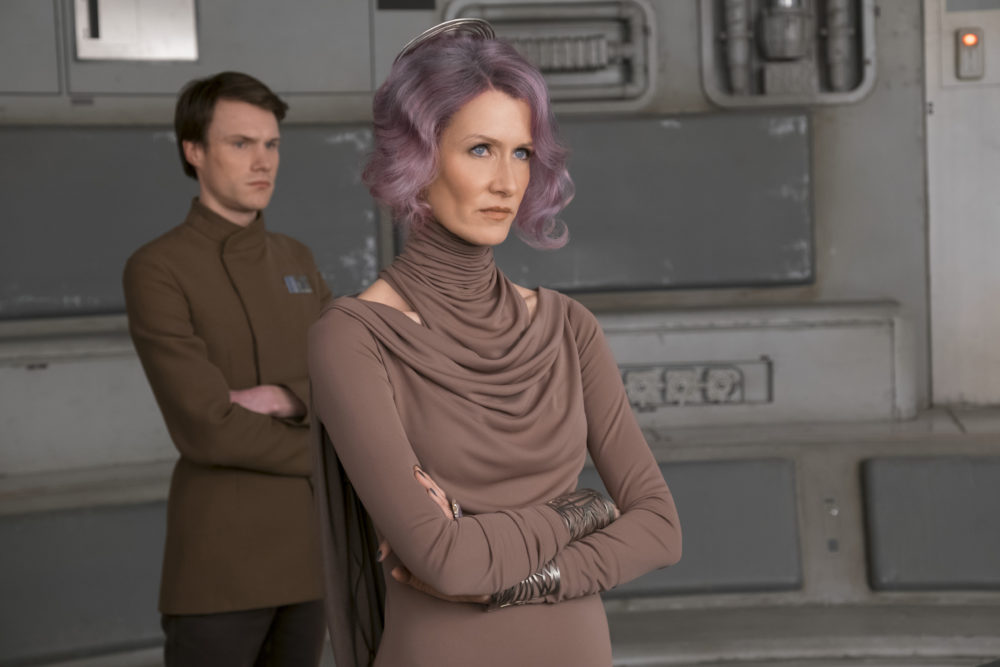 """You can see Laura Dern mouth blaster noises in """"Last Jedi,"""" and it's maybe the greatest thing ever"""