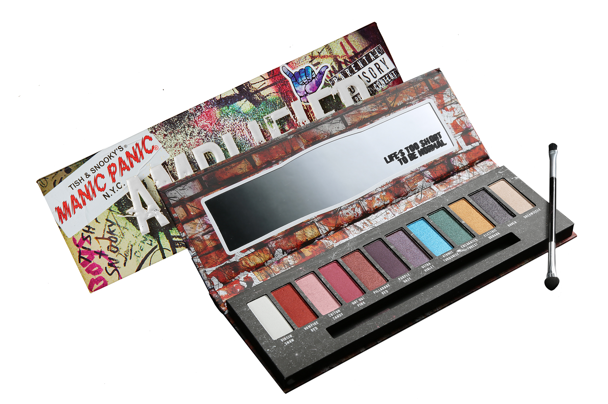 Manic Panic's vibrant eyeshadow palette will remind you of its colorful hair dyes