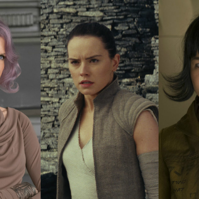 "Ranking the badass lady power moments in ""Last Jedi,"" on a scale from 1 to YAS GENERAL"