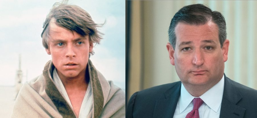 Mark Hamill and Ted Cruz got in a fight on Twitter, and yes, you read that correctly