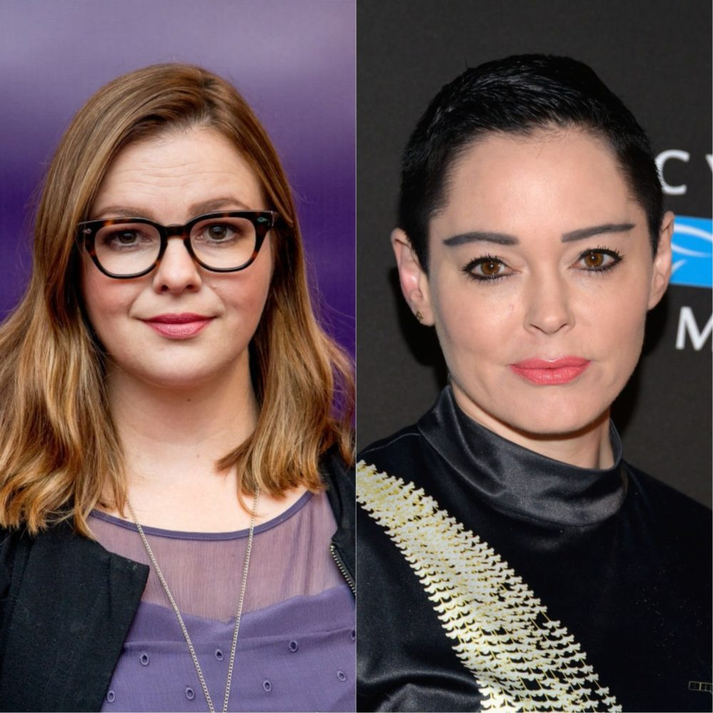 Amber Tamblyn responded to Rose McGowan's criticism of the Golden Globes silent black dress protest