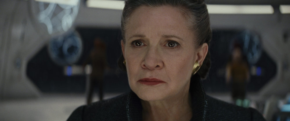 "File under not surprising at all: Carrie Fisher actually rewrote some of ""The Last Jedi"""