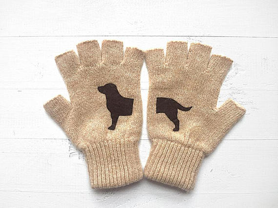 Gloves with dogs