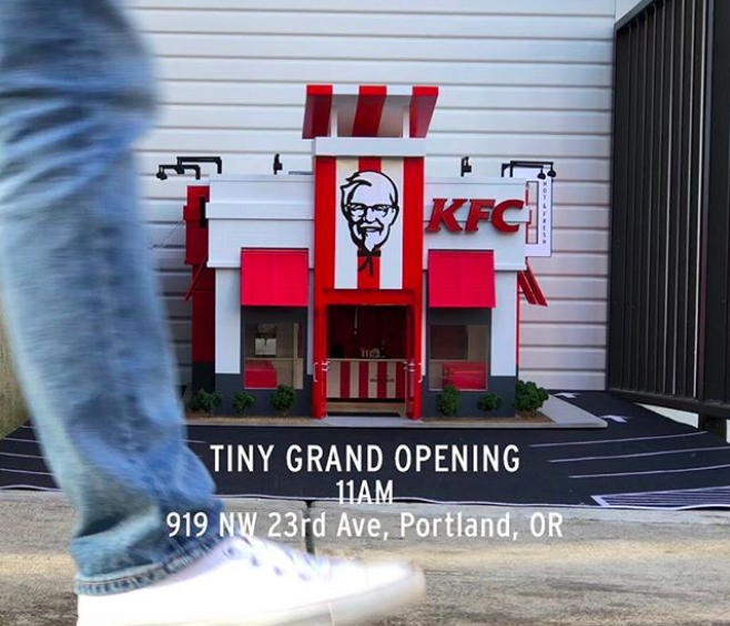 The world's tiniest KFC opened in Portland and it is finger-lickin' adorable