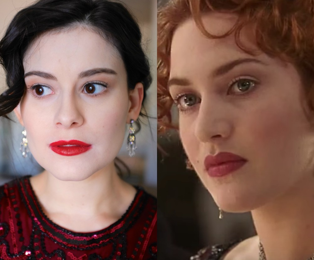 "For ""Titanic's"" 20th anniversary, I copied Rose's fresh-faced makeup"