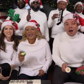 Anna Kendrick and Jimmy Fallon played a classic Christmas song on classroom instruments