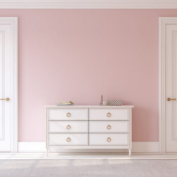 The internet can't decide whether this dresser is pink and white or blue and gray