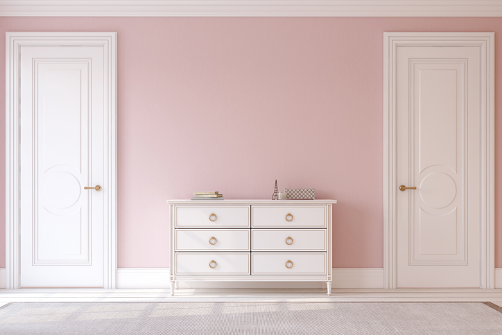 The Internet Can T Decide If This Dresser Is Pink And White Or Blue Gray Hellogiggles