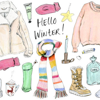 "Say ""hi"" to winter with a new wardrobe, illustrated"