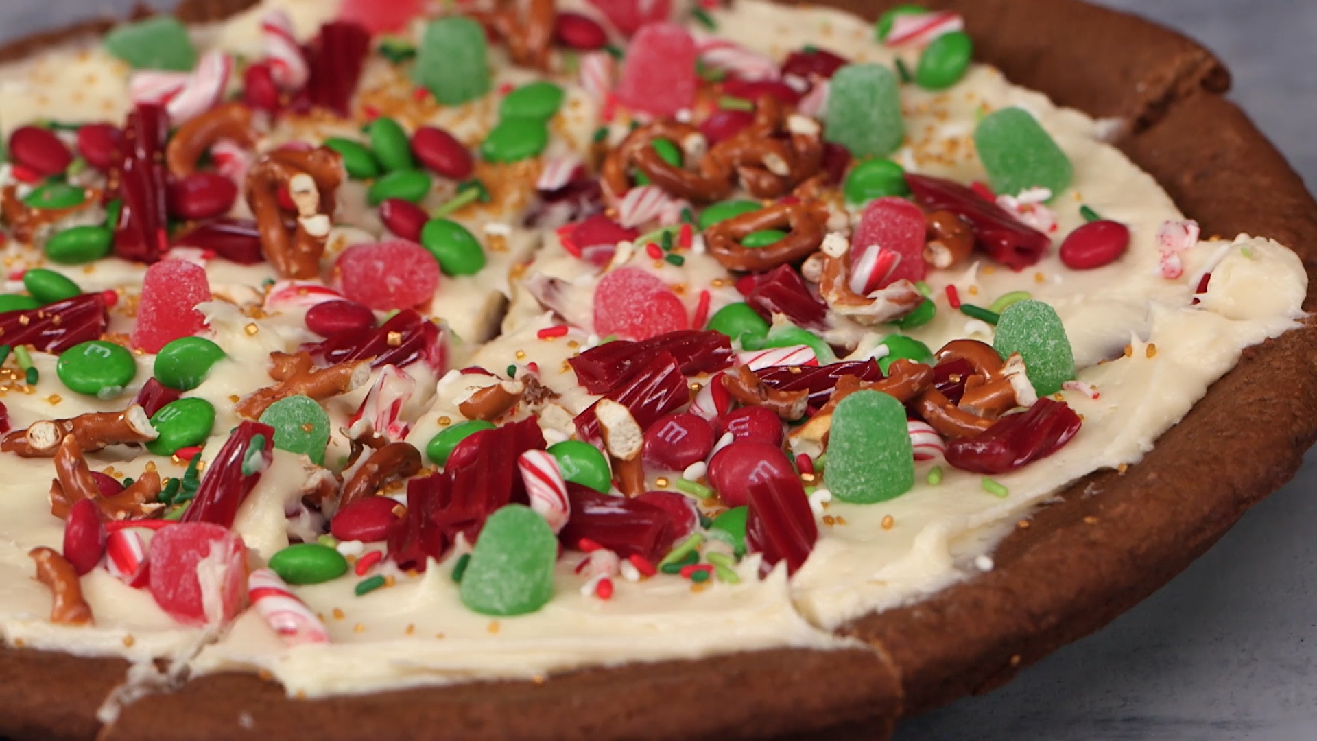 Start a new holiday tradition by building your own gingerbread pizza