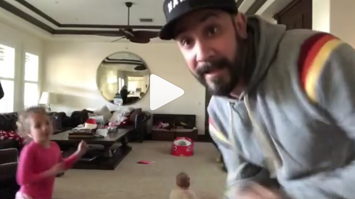 A.J. McLean's daughter jamming to NSYNC holiday music is exactly what we needed today