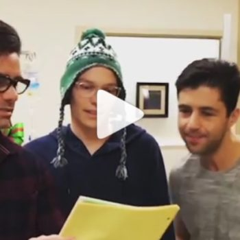 "John Stamos and Josh Peck performed a scene from ""Grey's Anatomy,"" and thankfully there's video"
