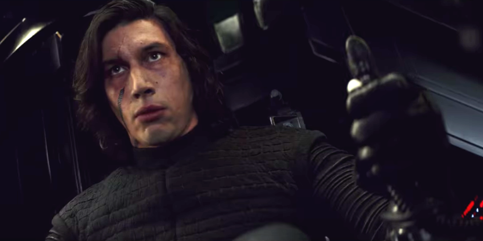 "Oh, so Kylo Ren might not actually be wearing super high waisted pants in ""Last Jedi"""