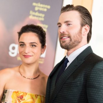 Jenny Slate spent Christmas with Chris Evans' family, and this looks serious