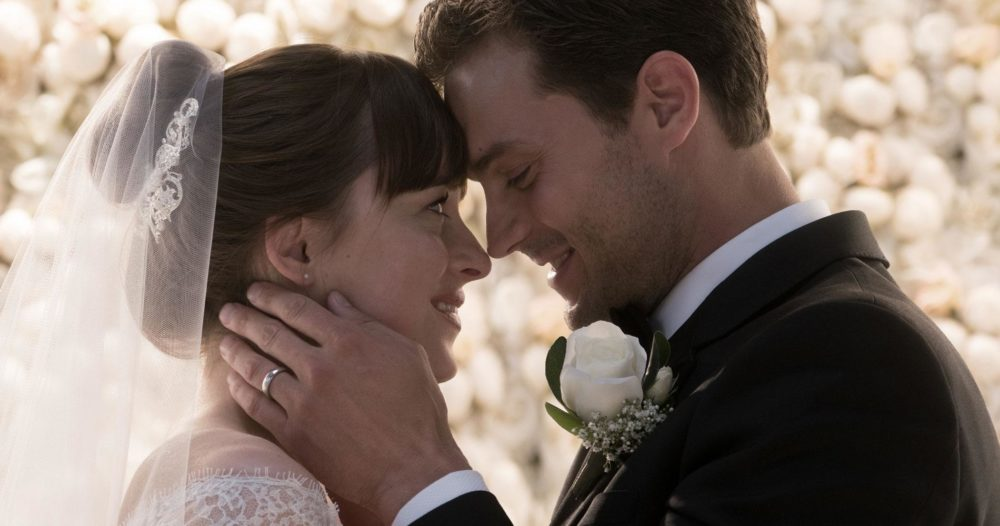 "A new ""Fifty Shades Freed"" teaser is here, and we have an even better look at Ana's wedding dress"