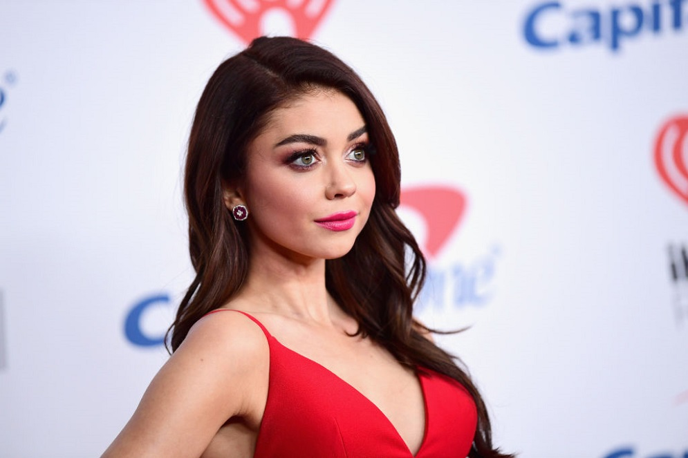 Sarah Hyland and her boyfriend Wells Adams just dropped the L-bomb on Instagram