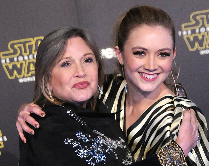 Billie Lourd took an emotional trip on the anniversary of mom Carrie Fisher's death