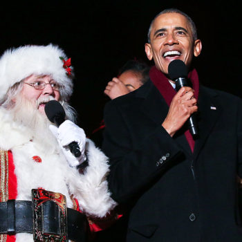 You have to watch Barack Obama sing Christmas songs with feminist Christmas carolers