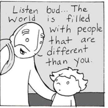 This dad's comics about empathy and love are going viral