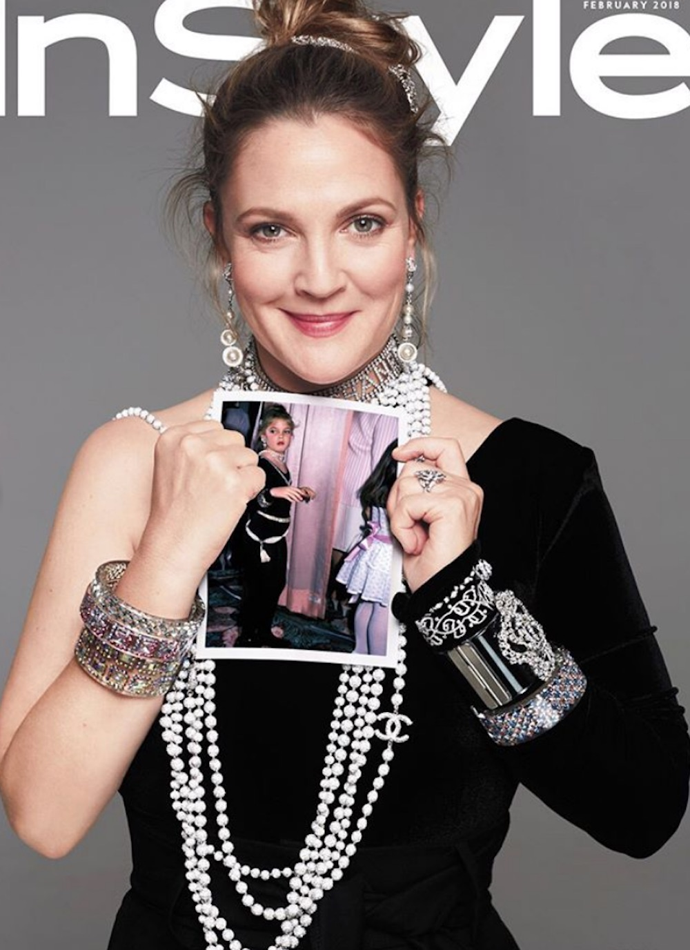 Drew Barrymore recreated her iconic childhood style, and it will speak to your '80s heart