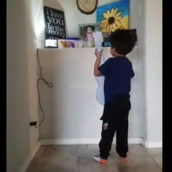 This sweet video of a boy singing to his late sister has gone viral