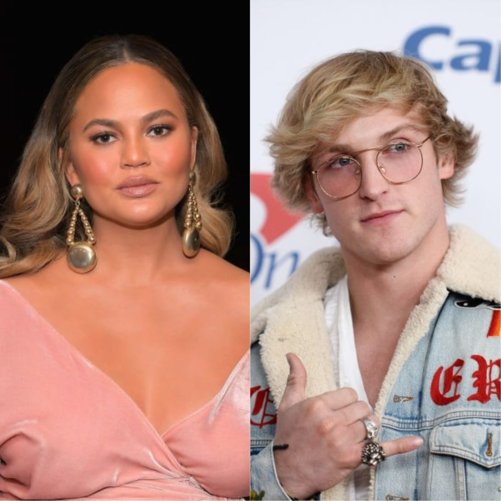 Some people are upset with Chrissy Teigen's comments about Logan Paul