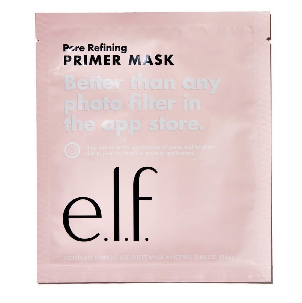 E.l.f. Cosmetics's primer mask will zap away your pores before you apply makeup