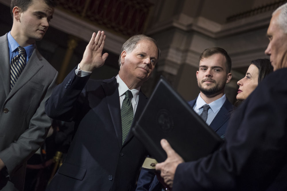 Doug Jones' gay son gave Mike Pence so much side-eye, and Twitter is obsessed