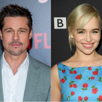 """Brad Pitt bid $120,000 to watch an episode of """"Game of Thrones"""" with Emilia Clarke, and he still didn't win"""