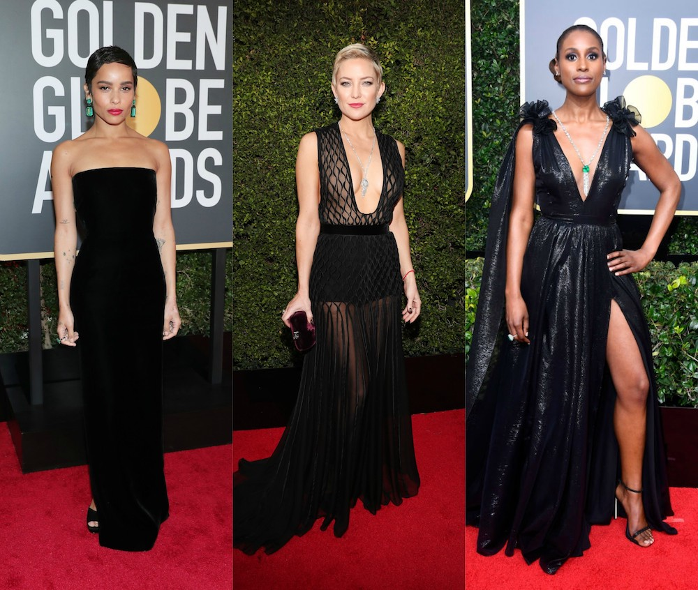These are the celebrities who wore black ensembles at the 2018 Golden Globes