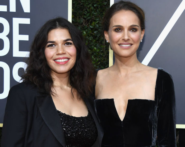 America Ferrera and Natalie Portman were each other's dates to the Golden Globes
