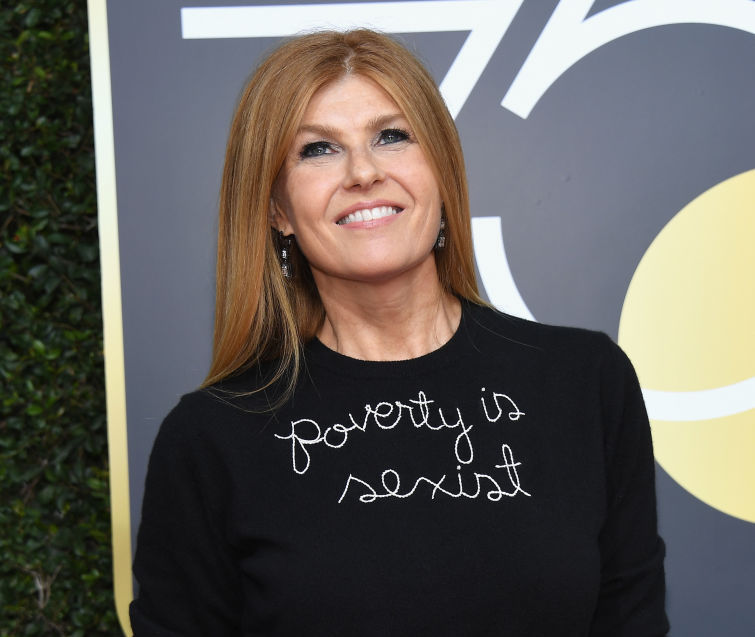 "This is why Connie Britton's Golden Globes look says ""poverty is sexist"""