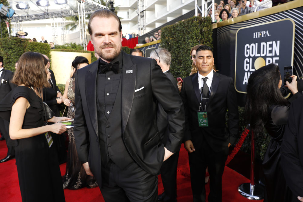 David Harbour celebrated his Golden Globes loss in a pretty great way