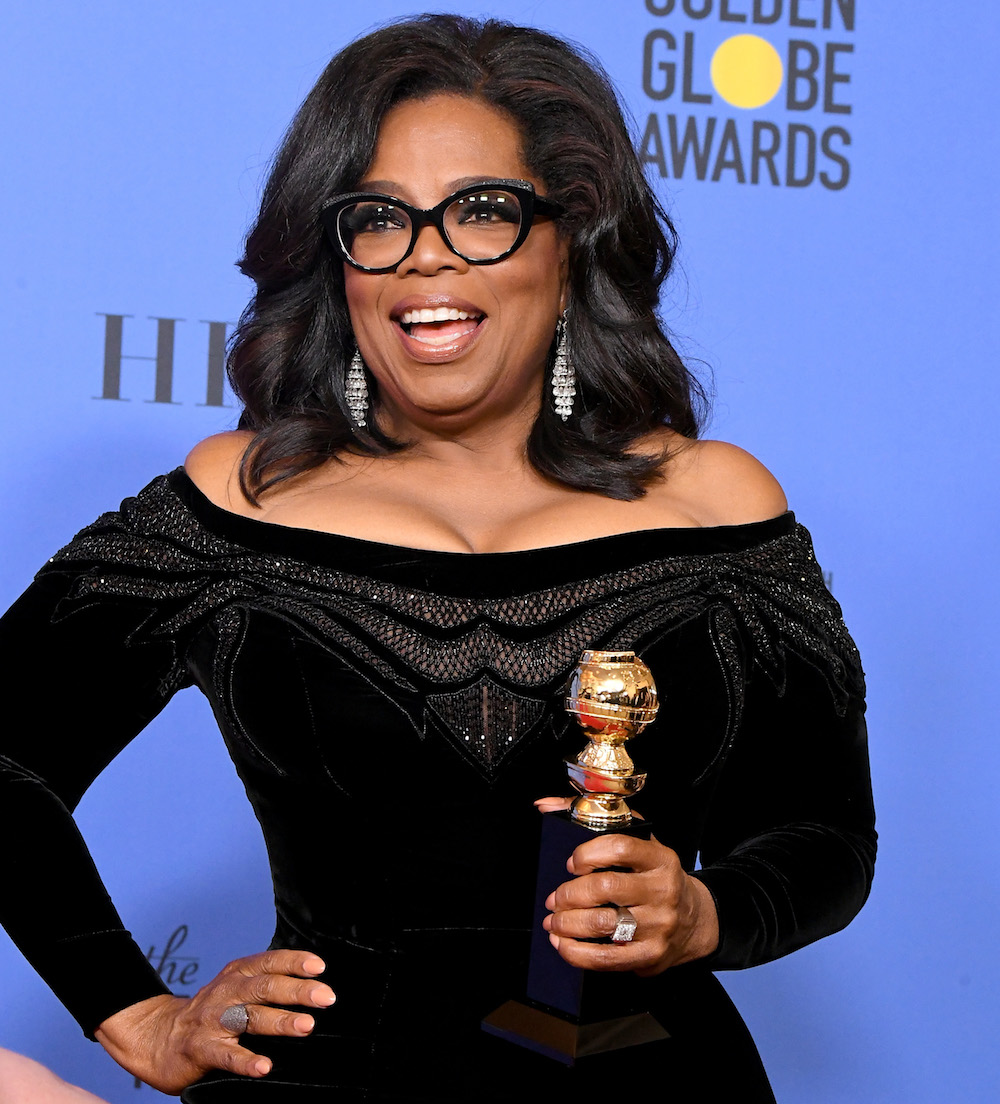 Oprah Winfrey is the first Black woman to receive the Cecil B. DeMille Award