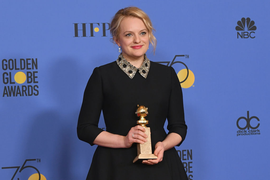 Elisabeth Moss is getting called out at the 2018 Golden Globes — here's why