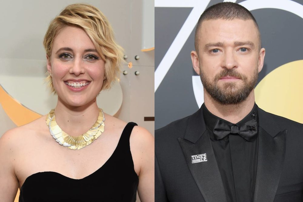 Greta Gerwig geeking out over meeting Justin Timberlake at the 2018 Golden Globes is all of us