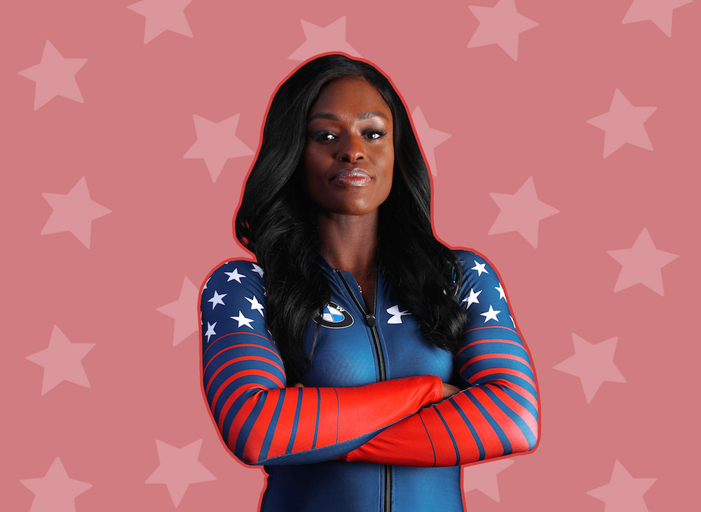 "Olympic bobsledder Aja Evans talks to us about body image and being a ""glam girl""on and off the tracks"