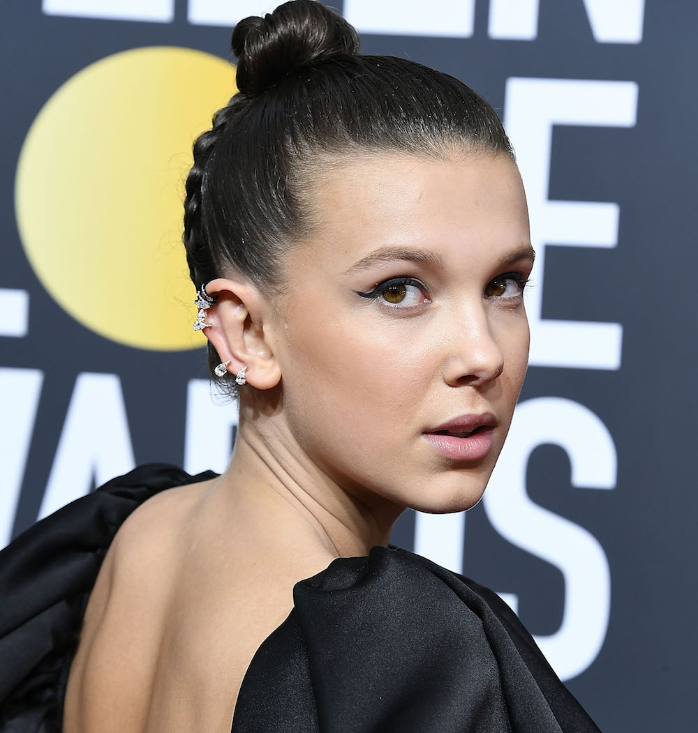 "Millie Bobby Brown's hairstyle at the 2018 Golden Globes had a secret message only ""Stranger Things"" fans would catch"