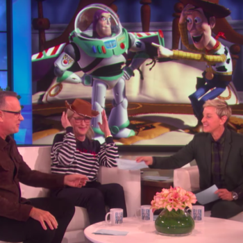 """Meryl Streep yelling """"Toy Story"""" lines at Tom Hanks is truly a gift"""