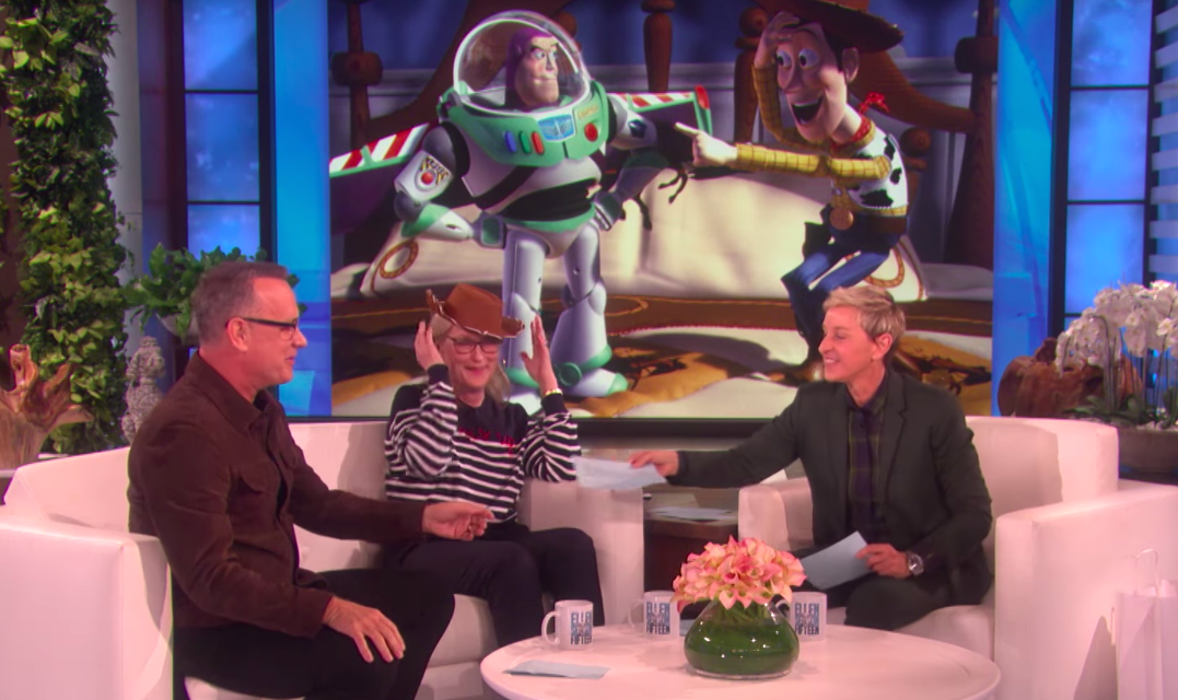 "Meryl Streep yelling ""Toy Story"" lines at Tom Hanks is truly a gift"