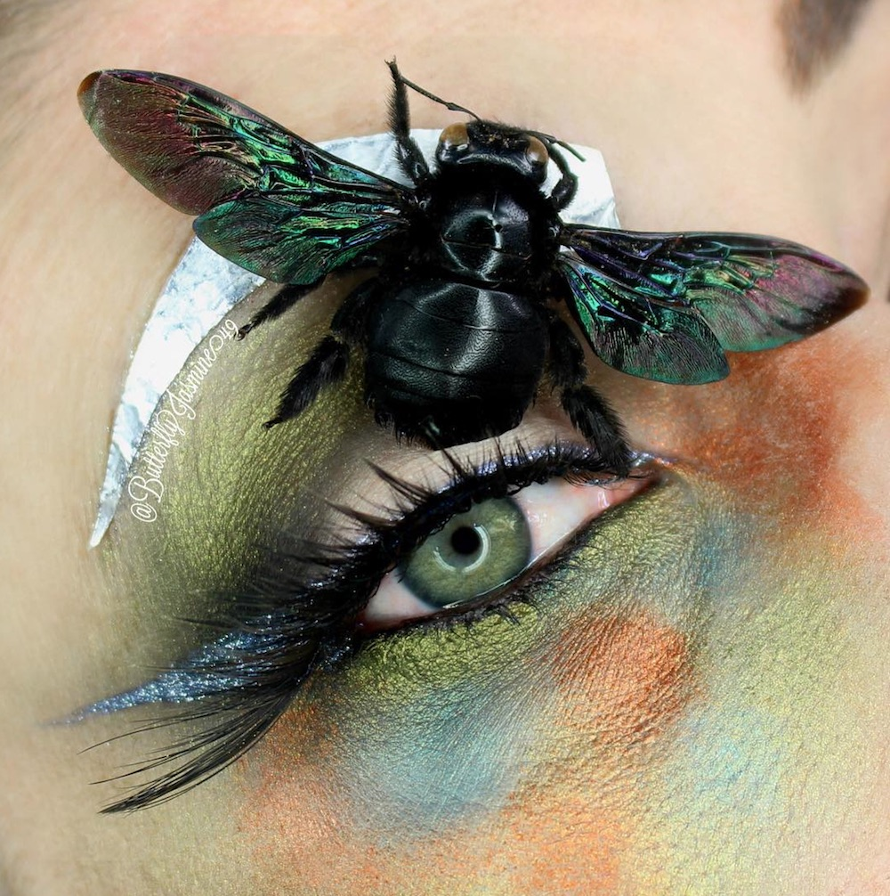This makeup artist uses real bugs as makeup, and it will give you the jitters