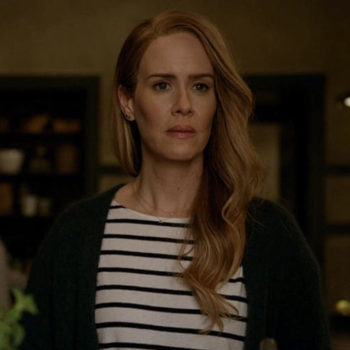 """It sounds like Sarah Paulson will wear headgear in Season 8 of """"American Horror Story,"""" and we relate so hard to this"""