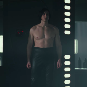 "The ""Last Jedi"" costume designer has a legit explanation for shirtless Kylo Ren's high-waisted pants"